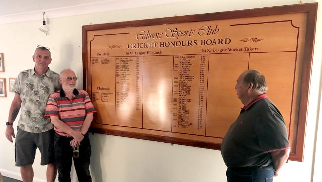 CALMORE SPORTS UNVEIL NEW HONOURS BOARD